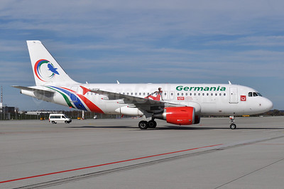 Germania Fluggesellschaft Airbus A319-112 D-ASTA (msn 4663) (Gambia Bird colors) MUC (Tony Storck). Image: 921050.