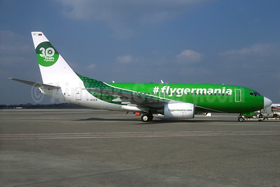 flygermania.com - #flygermania - Germania Fluggesellschaft Boeing 737-75B D-AGER (msn 28107)  (30 Years Germania) (Jacques Guillem Collection). Image: 934049.