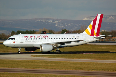 Germanwings (2nd) Airbus A319-112 D-AKNO (msn 1147) MAN (Nik French). Image: 911606.