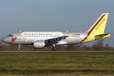 Germanwings (2nd) Airbus A319-112 D-AKNM (msn 1089) (Mhhh, Baden-Wurttemberg) STN (Pedro Pics). Image: 900238.