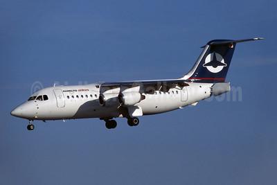 Hamburg Airlines BAe 146-200 D-AZUR (msn E2060) DUB (SM Fitzwilliams Collection). Image: 945398.
