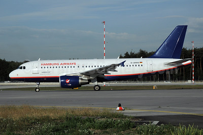 Hamburg Airways Airbus A319-111 D-AHHA (msn 3533) FRA (Bernhard Ross). Image: 906503.