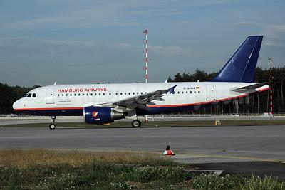 Hamburg Airways Airbus A319-111 D-AHHA (msn 3533) FRA (Bernhard Ross). Image: 906503.