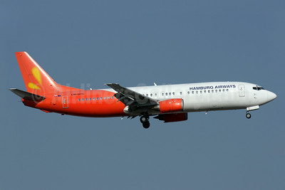 Hamburg Airways (Go2Sky) Boeing 737-430 OM-GTC (msn 27001) (Firefly colors) AYT (Antony J. Best). Image: 923960.