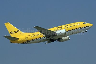Hapag-Lloyd Express - hlx.com Boeing 737-5K5 D-AHLG (msn 24776) DUS (SPA). Image: 940190.