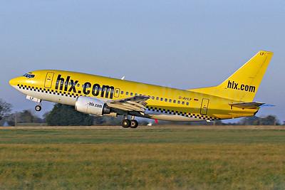 hlx.com (Hapag-Lloyd Express) Boeing 737-5K5 D-AHLF (msn 24927) DUB (Michael Kelly). Image: 939684.