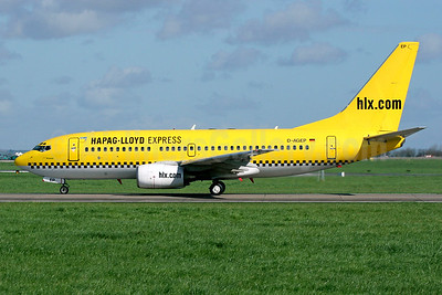 Hapag-Lloyd Express - hlx.com Boeing 737-75B D-AGEP (msn 28102) DUB (SM Fitzwilliams Collection). Image: 920444.