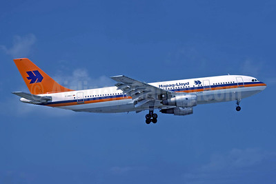 Hapag-Lloyd Flug Airbus A300B4-103 D-AMAY (msn 020) ATH (Richard Vandervord). Image: 952512.