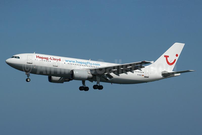 """Hapag-Lloyd Flug ( <a href=""""http://www.hapagfly.com"""">http://www.hapagfly.com</a>) Airbus A300B4-605R D-AIAX (msn 773) ACE (Ton Jochems). Image: 937160."""