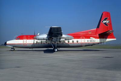 IFG (Interregional Fluggesellschaft) Fokker F.27 Mk. 100 D-BEKU (msn 10176) (LTU colors) LBG (Christian Volpati). Image: 947614.