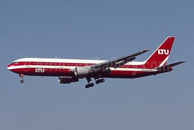 LTU International Airways Boeing 767-3G5 ER D-AMUR (msn 24257) (LTU Sud colors) MIA (Bruce Drum). Image: 105619.