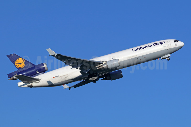 Lufthansa Cargo McDonnell Douglas MD-11F D-ALCN (msn 48806) NRT (Michael B. Ing). Image: 943193.