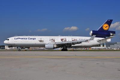Lufthansa Cargo McDonnell Douglas MD-11F D-ALCC (msn 48783) (100 Years Air Cargo) FRA (Ton Jochems). Image: 907106.