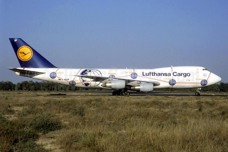 "Lufthansa Cargo's 1998 ""Service Revolution"" special livery, named ""Africa"""