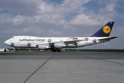 "Lufthansa Cargo's 1998 ""Service Revolution"" special livery, named ""Africa"""