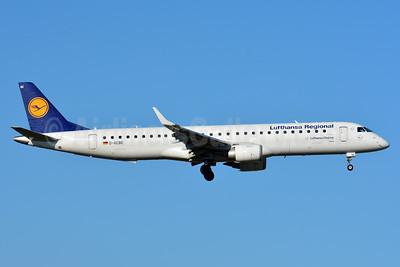 CityLine (Lufthansa CityLine) Embraer ERJ 190-200LR (ERJ 195) D-AEBE (msn 19000350) ZRH (Paul Bannwarth). Image: 938940.