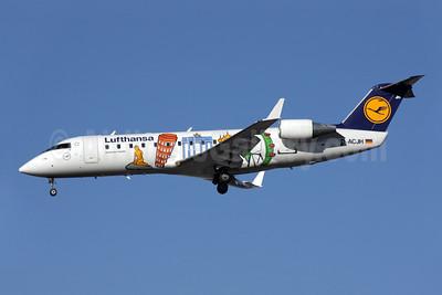 Lufthansa Regional-CityLine Bombardier CRJ200 (CL-600-2B19) D-ACJH (msn 7266) (Little Europe - 40th Anniversary) LHR (Antony J. Best). Image: 902149.