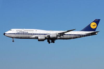 Lufthansa Boeing 747-830 D-ABYT (msn 37844) LAX (Michael B. Ing). Image: 930068.