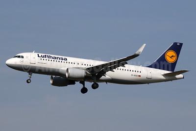 Lufthansa Airbus A320-214 WL D-AIUD (msn 6033) LHR (SPA). Image: 936396.