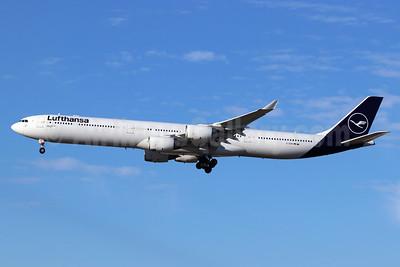 Lufthansa Airbus A340-642 D-AIHH (msn 566) LAX (Michael B. Ing). Image: 948208.