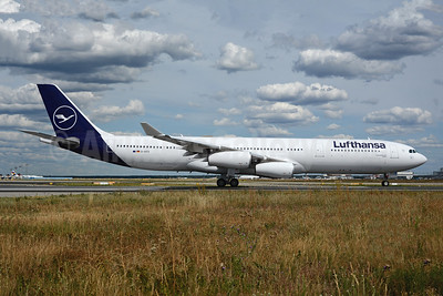 First A340-300 in the new livery