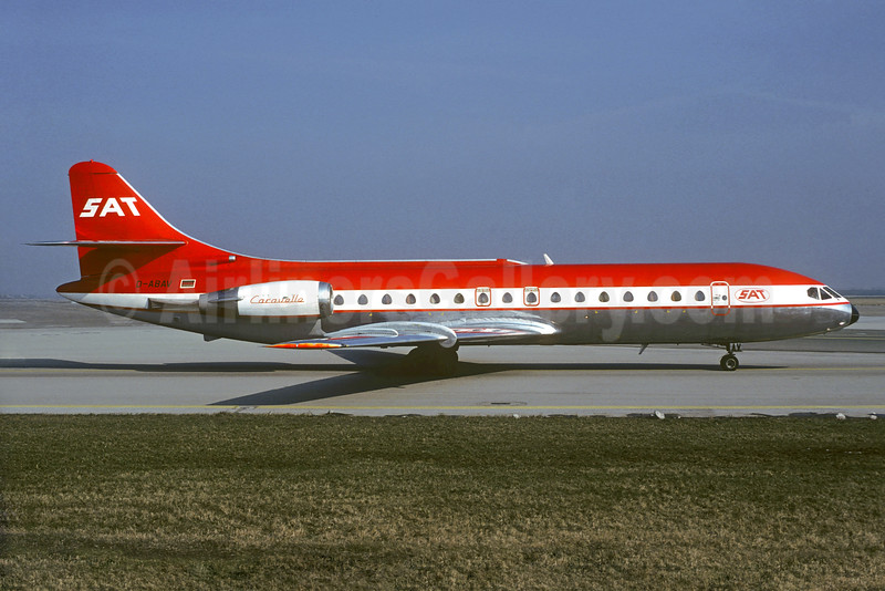 SAT Fluggesellschaft (Special Air Transport) Sud Aviation SE.210 Caravelle 10B1R D-ABAV (msn 243) (LTU colors) MUC (Christian Volpati Collection). Image: 932378.