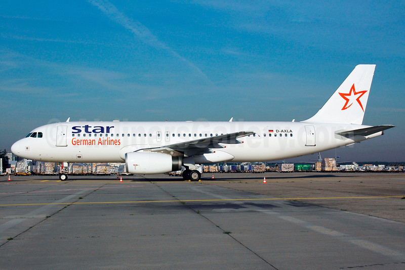 Star German Airlines (Star Europe) Airbus A320-232 D-AXLA (msn 2500) FRA (Bernhard Ross). Image: 900727.