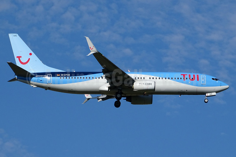TUI Airlines (Germany) Boeing 737-8K5 SSWL D-ATUC (msn 34684) BSL (Paul Bannwarth). Image: 934268.