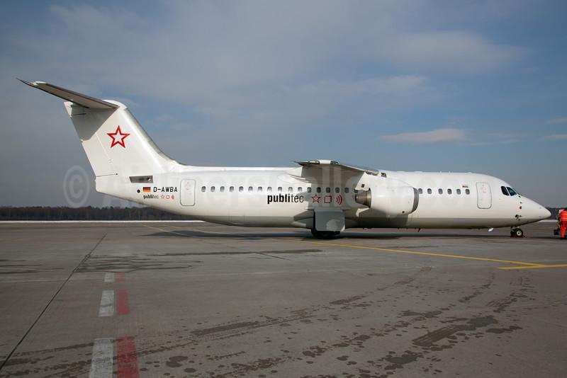Publitec (WDL Aviation) BAe 146-300 D-AWBA (msn E3134) CGN (Rainer Bexten). Image: 911460.