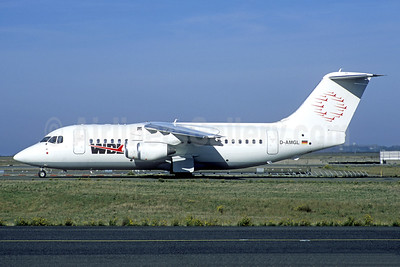 WDL Aviation BAe 146-200 D-AMGL (msn E2055) CDG (Jacques Guillem Collection). Image: 943733.