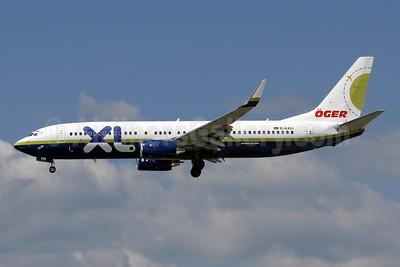 XL Airways (Germany) Boeing 737-81Q WL D-AXLI (msn 30618) (Oger Turk Tur - Miami Air colors) FRA (Wim Callaert). Image: 910396.