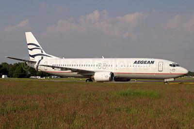 Aegean Airlines Boeing 737-46B SX-BGX (msn 24124) QLA (Antony J. Best). Image: 900614.