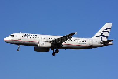 Aegean Airlines Airbus A320-232 SX-DVI (msn 3074) LHR (SPA). Image: 925792.