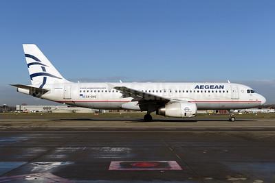 Aegean Airlines Airbus A320-232 SX-DVG (msn 3033) BRU (Ton Jochems). Image: 926138.