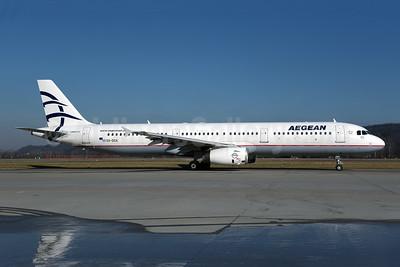 Aegean Airlines Airbus A321-231 SX-DGA (msn 3878) ZRH (Rolf Wallner). Image: 945736.