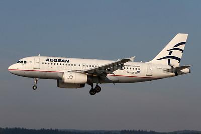 Aegean Airlines Airbus A319-132 SX-DGF (msn 2468) ZRH (Andi Hiltl). Image: 954569.