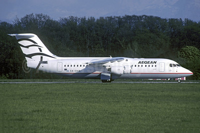 Aegean Airlines (Aegean Aviation) Avro (BAe) RJ100 SX-DVB (msn E3343) GVA (Christian Volpati Collection). Image: 954959.