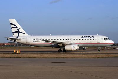 Aegean Airlines Airbus A320-232 SX-DVR (msn 3714) LHR (SPA). Image: 927721.