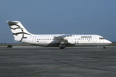 Aegean Airlines (Aegean Aviation) Avro (BAe) RJ100 SX-DVE (msn E3374) ATH (Christian Volpati Collection). Image: 953175.