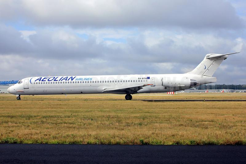 Aeolian Airlines McDonnell Douglas DC-9-83 (MD-83) SX-BTM (msn 49627) TLS (Eurospot). Image: 909252.