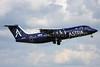 Astra Airlines (Greece) BAe 146-300 G-JEBE (SX-DIZ) (msn E3206) SEN (Keith Burton). Image: 900063.