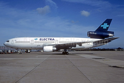 Electra Airlines (Greece) McDonnell Douglas DC-10-15 SX-CVP (msn 48294) (Skyjet Airlines colors) (Christian Volpati Collection). Image: 942676.