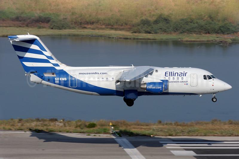 Ellinair BAe RJ85 SX-EMS (msn E2296) CFU (Antony J. Best). Image: 938885.