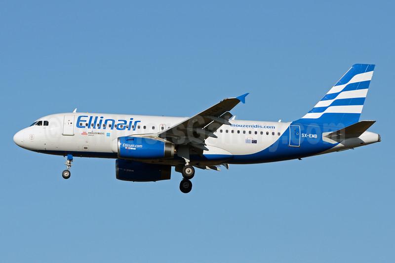 Ellinair Airbus A319-133 SX-EMB (msn 3705) SVO (OSDU). Image: 929801.