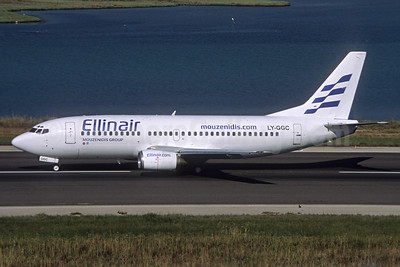 Ellinair Boeing 737-3Q8 LY-GGC (msn 24492) CFU (Jacques Guillem Collection). Image: 926101.