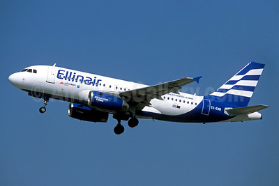 Ellinair Airbus A319-133 SX-EMB (msn 3705) FCO (Jacques Guillem). Image: 935177.