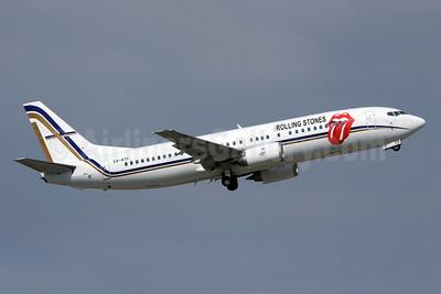 Rolling Stones (The) (GainJet Aviation) Boeing 737-406 SX-ATF (msn 25423) ZRH (Andi Hiltl). Image: 923111.