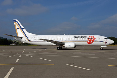 """Rolling Stones """"14 On Fire"""" 2014 European tour charter aircraft"""