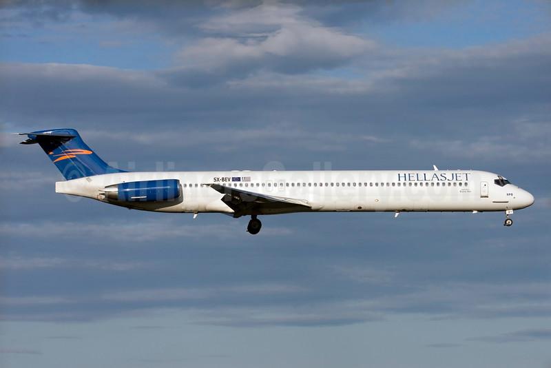 Hellas Jet (EuroAir) McDonnell Douglas DC-9-83 SX-BEV (msn 49668) (EuroAir colors) ARN (Stefan Sjogren). Image: 900128.