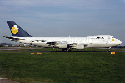 Hellenic Imperial Airways Boeing 747-281B SX-TIC (msn 23501) LGW (Antony J. Best). Image: 902120.